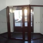 Стеклометаллическая дверь